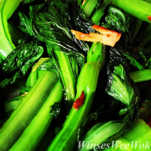 Choi Sum with Garlic 3