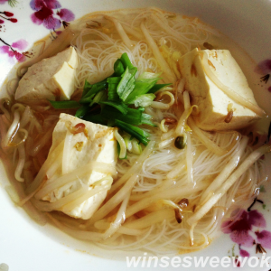 tofu beansprout soup