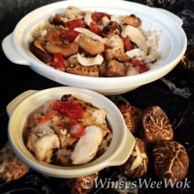 Chicken and mushroom rice clay pot 2