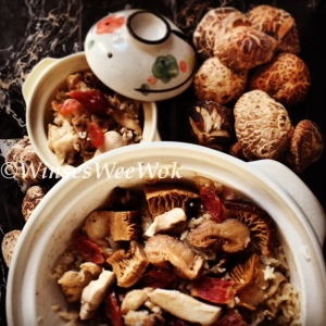 Chicken and mushroom rice clay pot 3