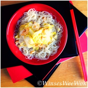 Braised cabbage with Mung Bean Noodles