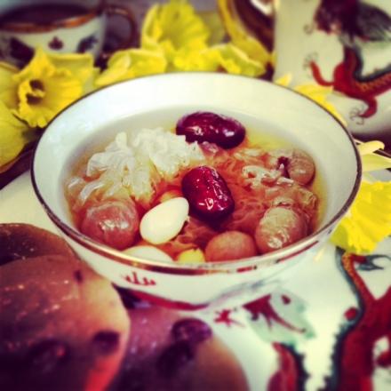 Gingko, Longan, red dates and snow fungus Dessert 3